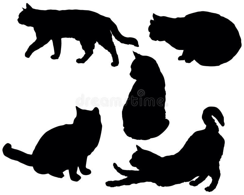 Het stellen katten stock illustratie