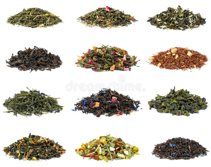 Reeks van thee stock afbeeldingen