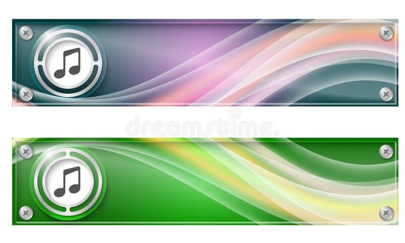Reeks van twee banners vector illustratie
