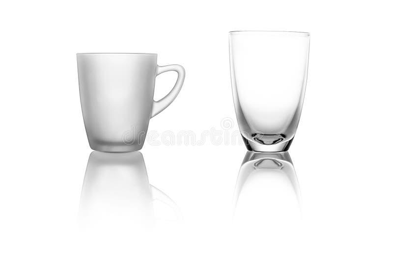 Reeks van twee glazen stock afbeeldingen