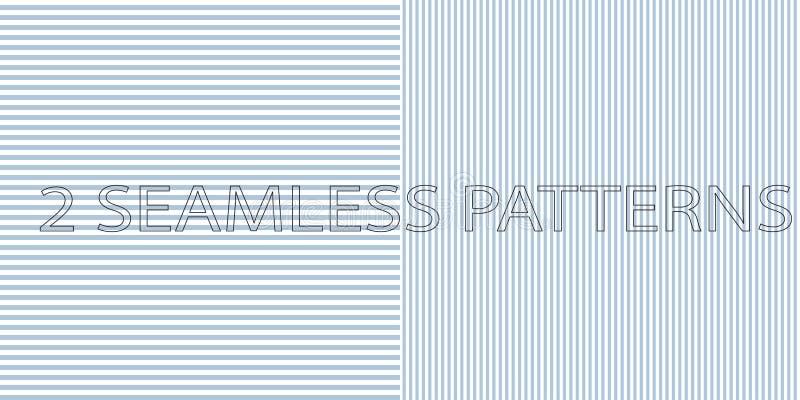 Reeks van twee naadloze patronen in blauwe kleur royalty-vrije illustratie