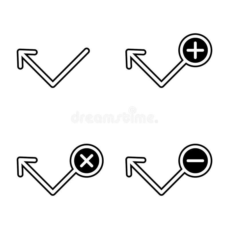 reeks van uitgaande oproepenpictogram Element van telefoon voor mobiel concept en webtoepassingenpictogram Glyph, vlak pictogram  royalty-vrije illustratie