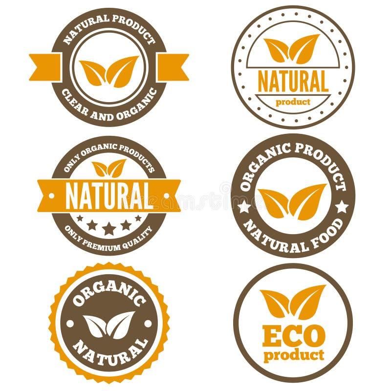 Reeks van uitstekend embleem, etiket, kenteken, logotype vector illustratie