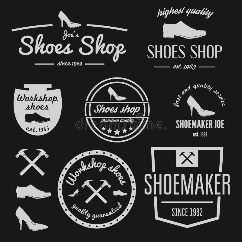 Reeks van uitstekend embleem, kenteken, embleem of logotype vector illustratie