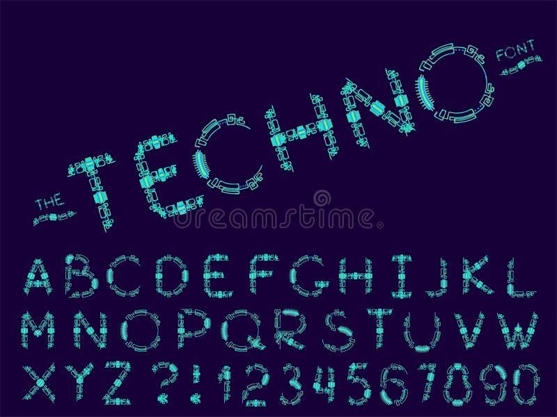 Reeks van vector abstract doopvont en alfabet vector illustratie