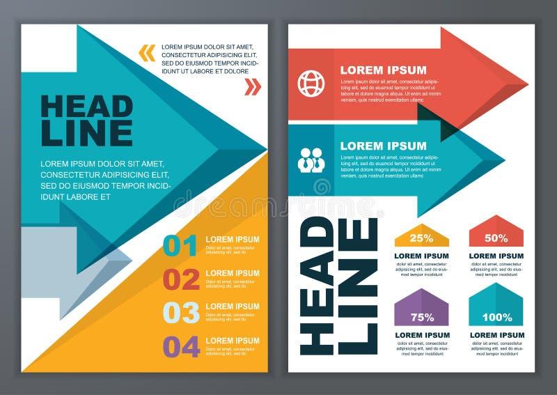 Reeks van vector geometrisch malplaatje voor brochure, vlieger, affiche, ap vector illustratie