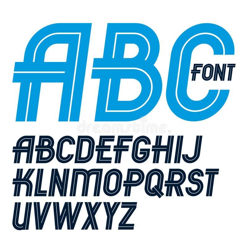 Reeks van vector regelmatig bovenleer - brieven van het geval maakten de Engelse alfabet met witte lijnen, voor gebruik als ontwe vector illustratie