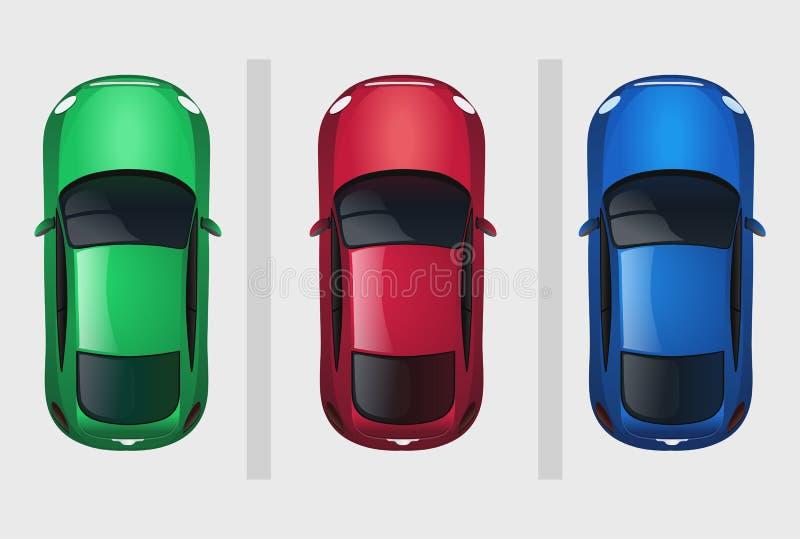 Reeks van vectorauto's hoogste mening royalty-vrije illustratie