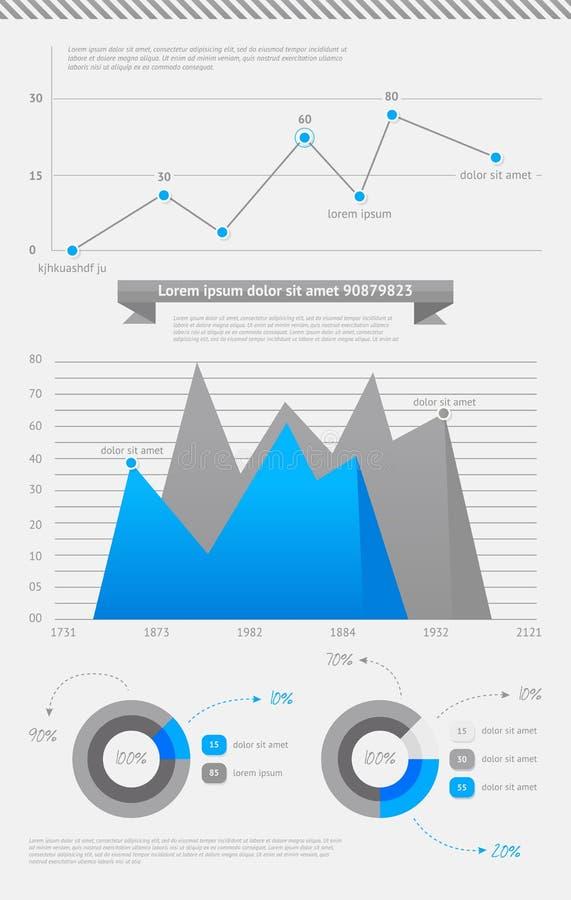 Reeks van vectorelementeninfographics vector illustratie