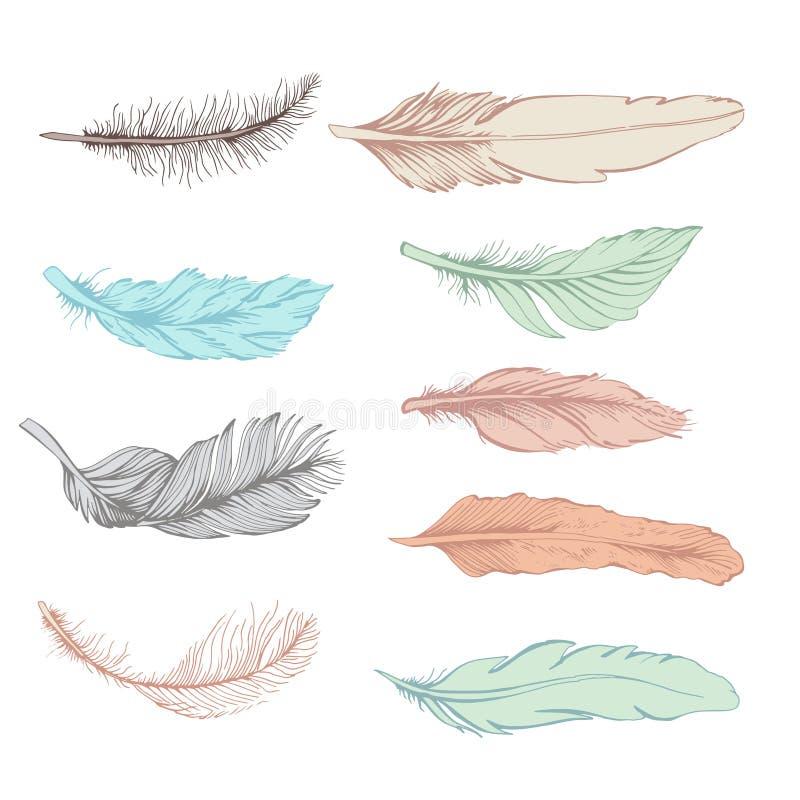 Reeks van veer vector illustratie