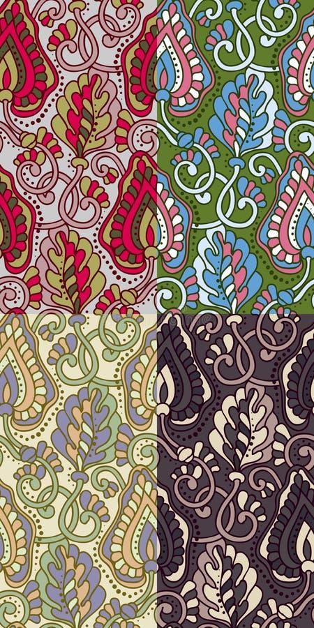 Download Reeks Van Vier Kleurrijke Naadloze Patronen. Eps-8. Vector Illustratie - Illustratie bestaande uit patroon, elegant: 39109538