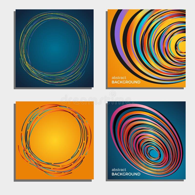 Reeks van vier mooie abstracte achtergronden vector illustratie