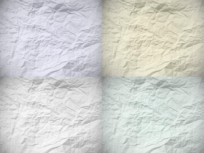 Reeks van vier oude gedeukte documenten vector illustratie