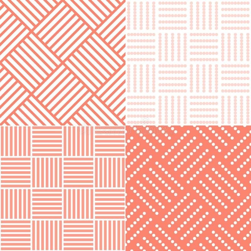 Reeks van vierkante tegel vector illustratie