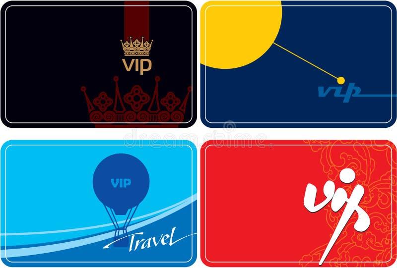 Reeks van VIP kaartenontwerp royalty-vrije illustratie