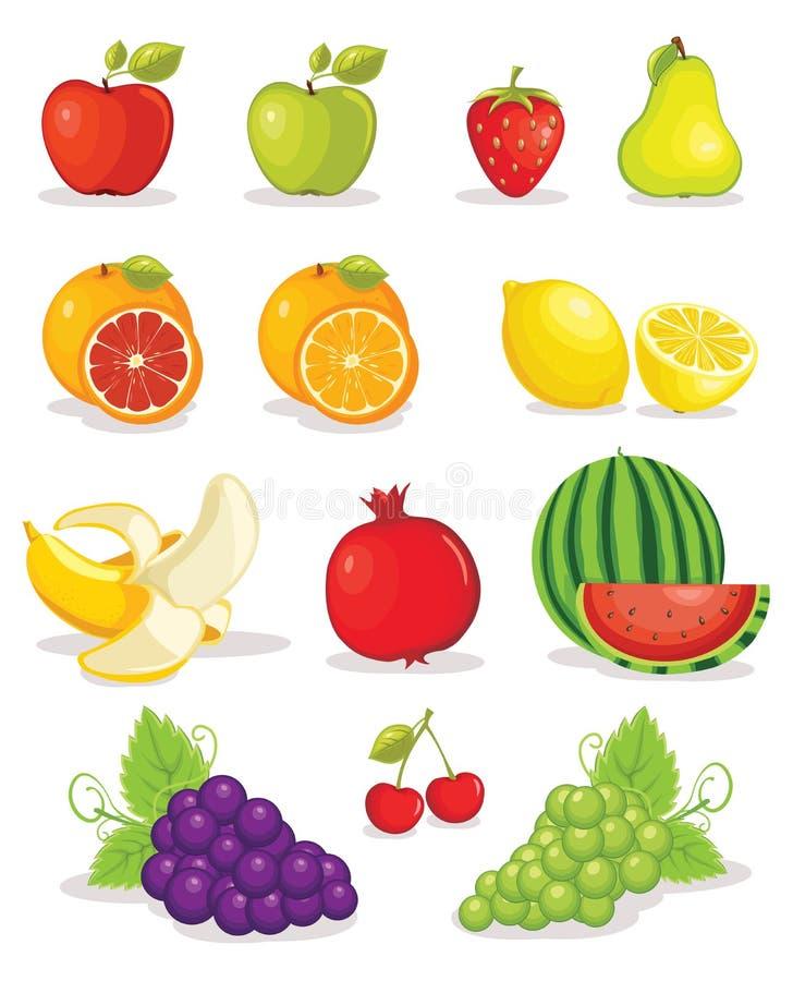 Reeks van vruchten illustratie vector illustratie