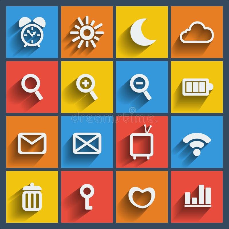 Reeks van Web 16 en mobiele pictogrammen. Vector. stock illustratie