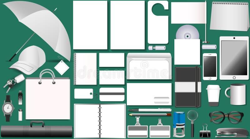 Reeks van wit ontwerp stock afbeelding