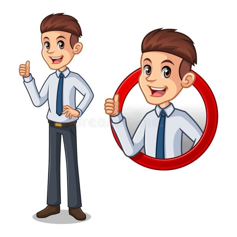 Reeks van zakenman in overhemd binnen het concept van het cirkelembleem vector illustratie