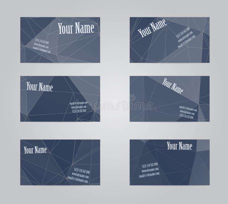 Reeks van zes bezoekkaarten vector illustratie