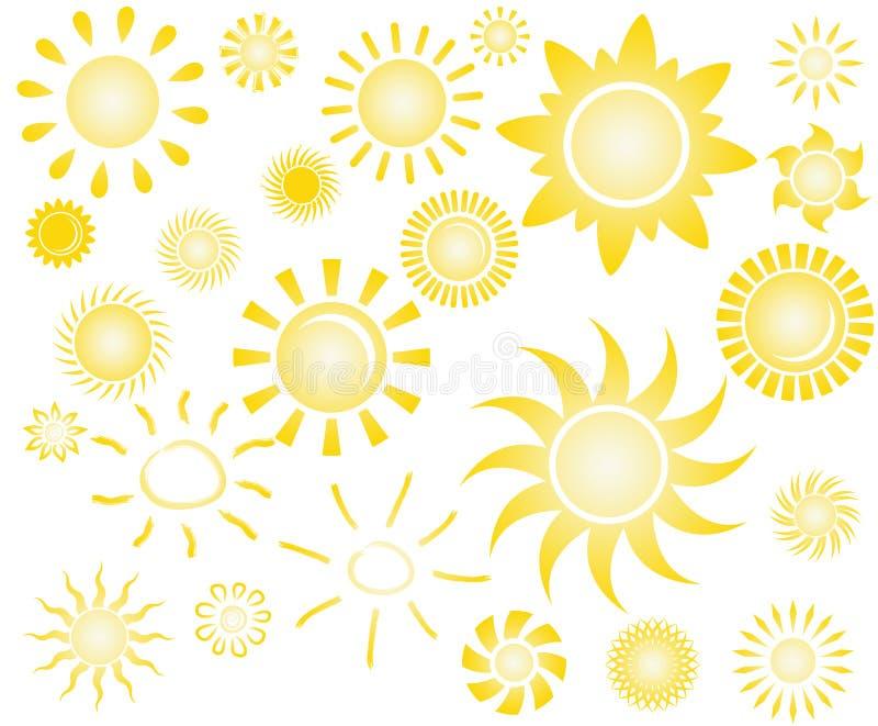 Download Reeks van zon stock illustratie. Illustratie bestaande uit element - 39118179