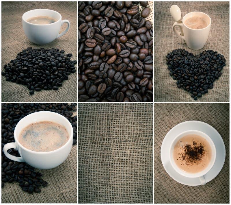 Reeks van zwarte koffie royalty-vrije stock fotografie