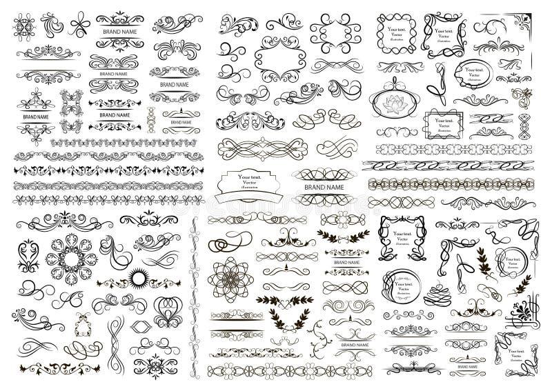 Reeks vector grafische elementen voor ontwerp stock illustratie