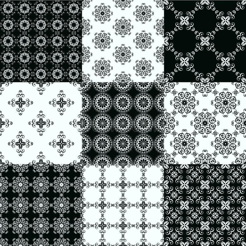 Reeks vector naadloze geometrische patronen vector illustratie