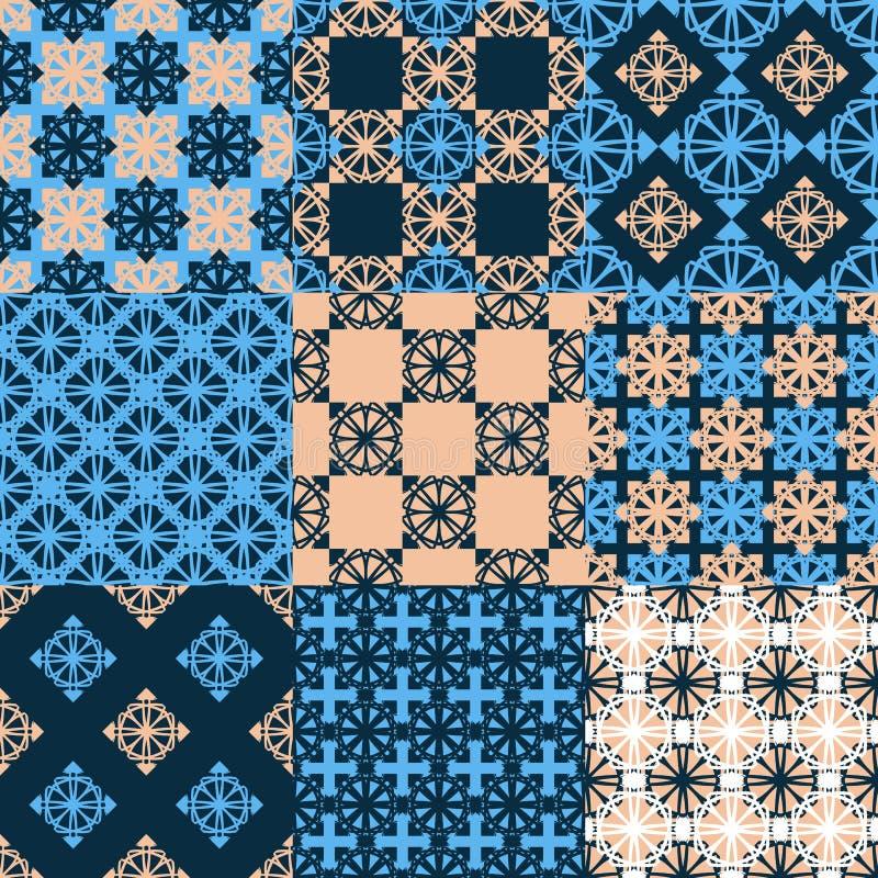 Reeks vector naadloze geometrische patronen stock illustratie