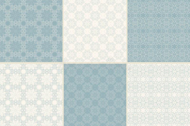 Reeks vector naadloze patronen met traditioneel stock illustratie