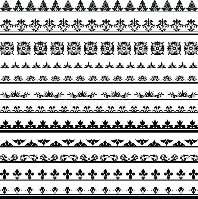 Reeks vector uitstekende kaders op witte achtergrond stock illustratie