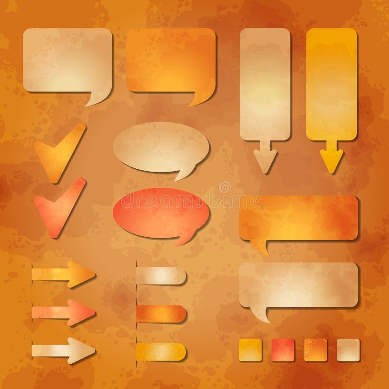 Reeks vectorelementen van het Webontwerp royalty-vrije illustratie