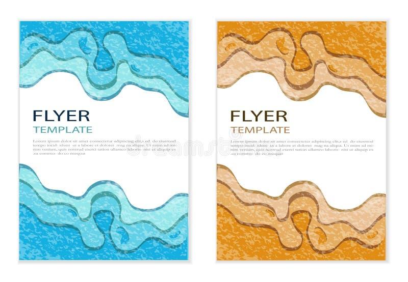 Reeks vectorontwerpmalplaatjes Brochures in willekeurig kleurrijk varkenskot vector illustratie