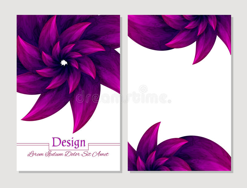 Reeks vectorontwerpmalplaatjes Vector abstracte boekjesdekking Schoonheidsbrochure Karmozijnrood en wit stock illustratie