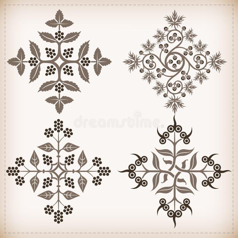 Reeks vectorornamenten. royalty-vrije illustratie