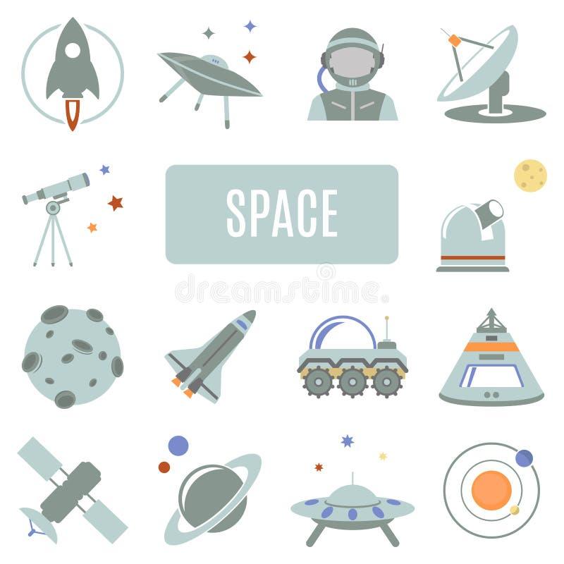 Reeks vectorpictogrammen ruimte vector illustratie