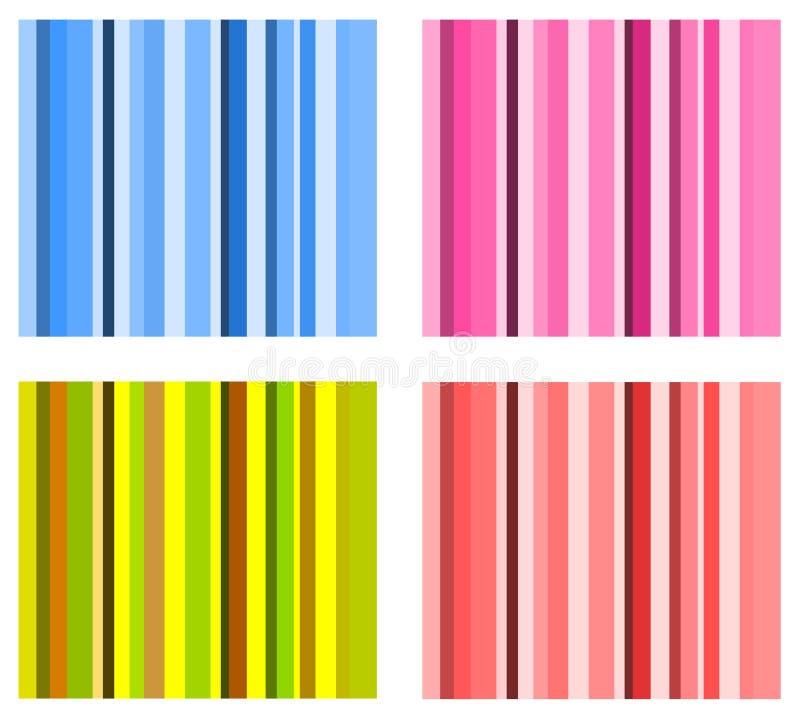 Reeks vectorstreepregelingen stock illustratie