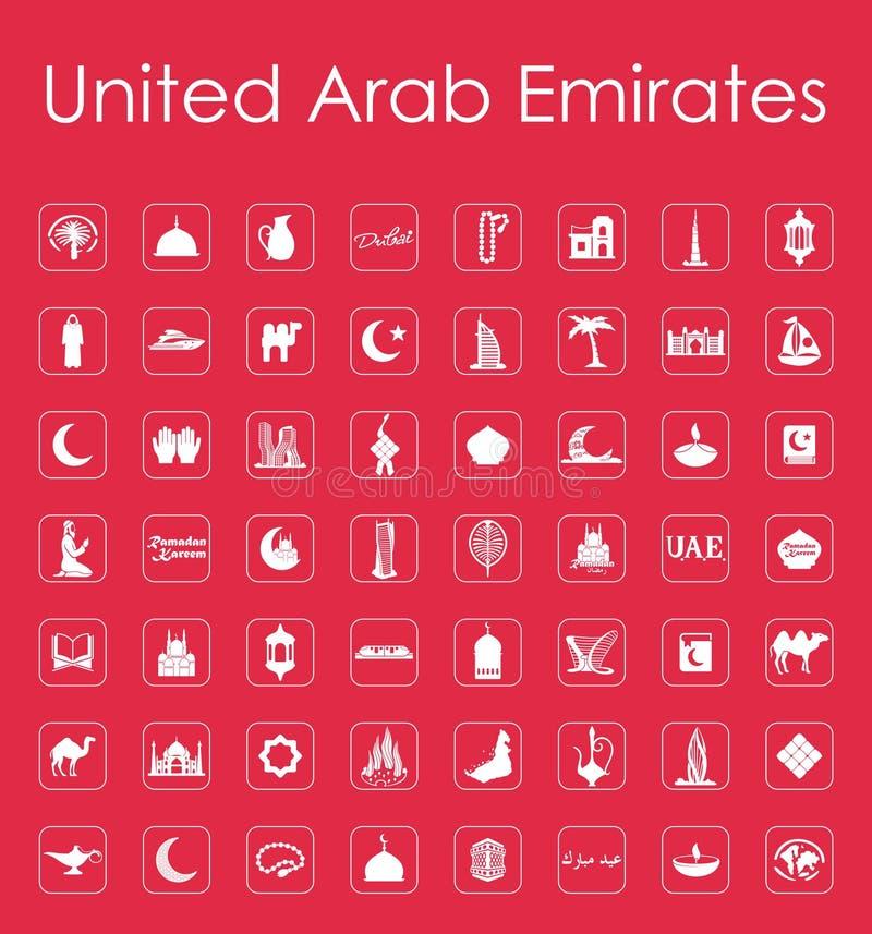 Reeks Verenigde Arabische eenvoudige pictogrammen van Emiraten royalty-vrije illustratie