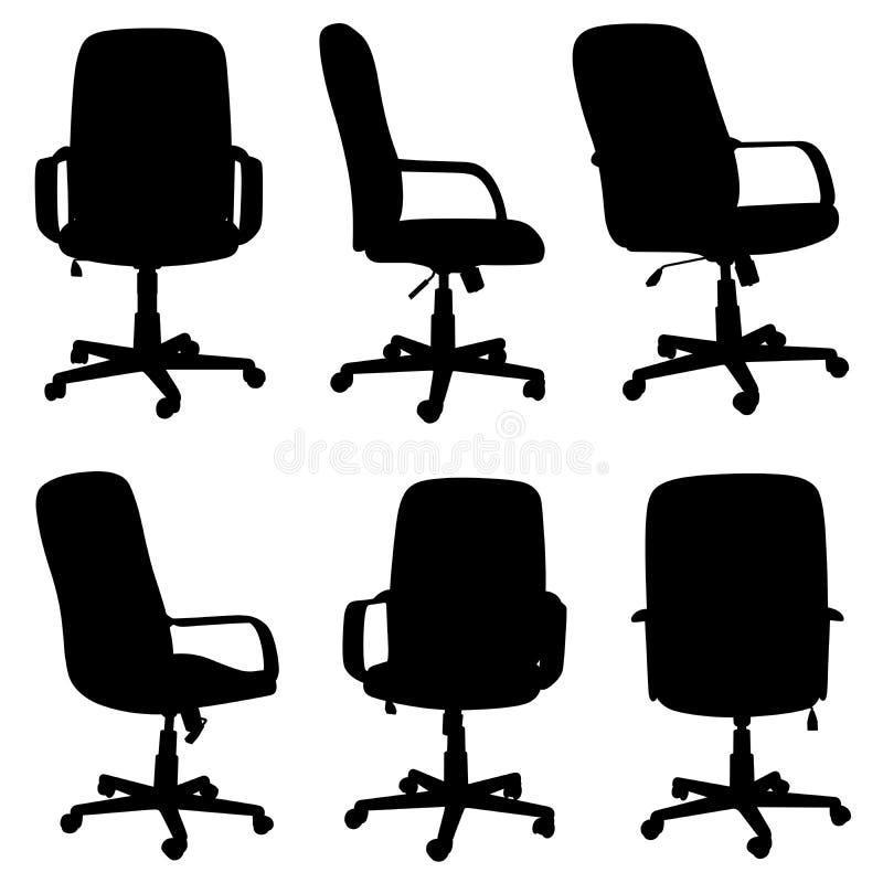 Reeks verschillende bureaustoelen vector illustratie