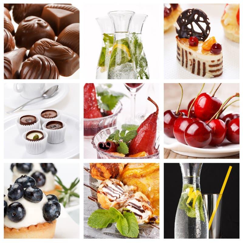 Reeks verschillende desserts stock fotografie