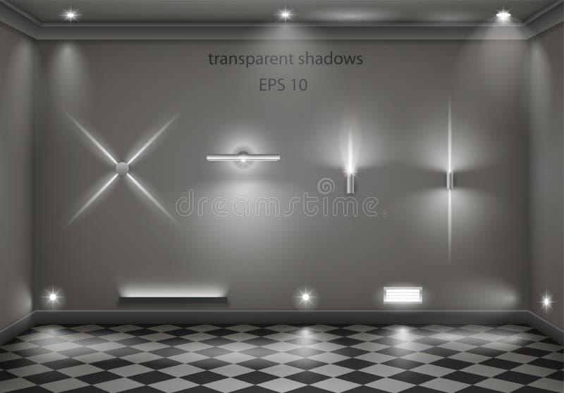 Reeks verschillende lampen stock illustratie