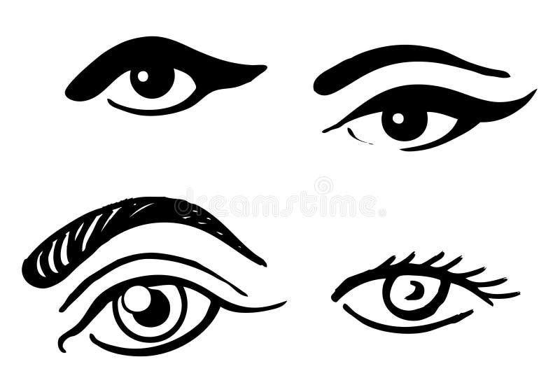 Reeks verschillende ogen vector illustratie