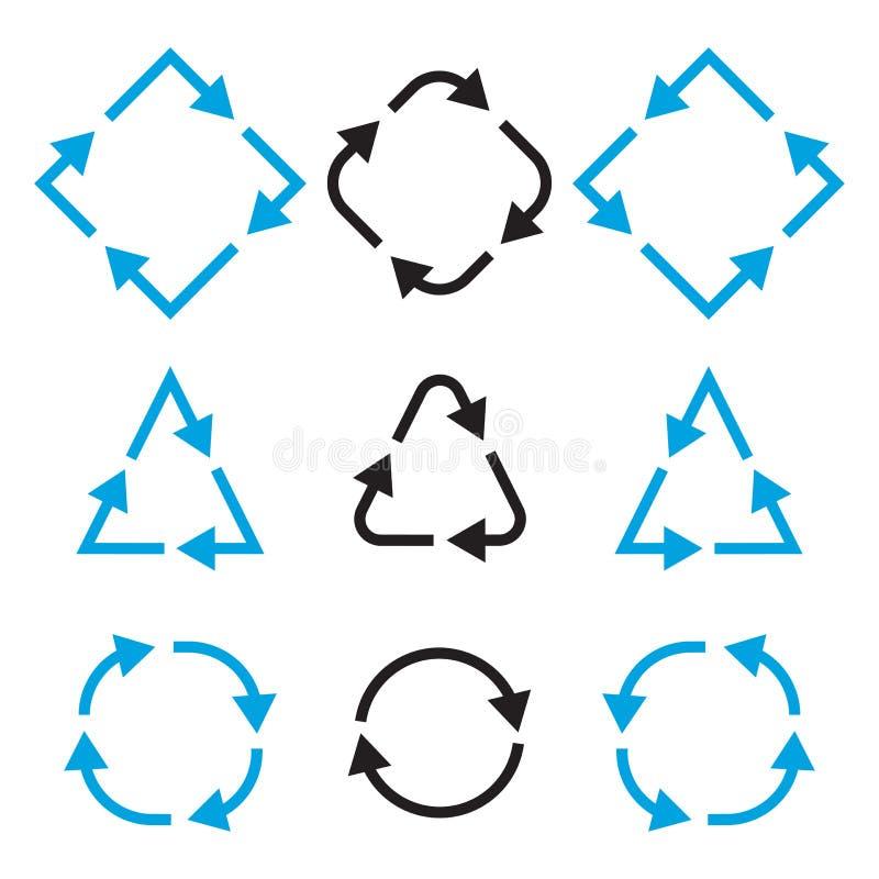 Reeks verschillende pijlen Vector illustratie stock illustratie