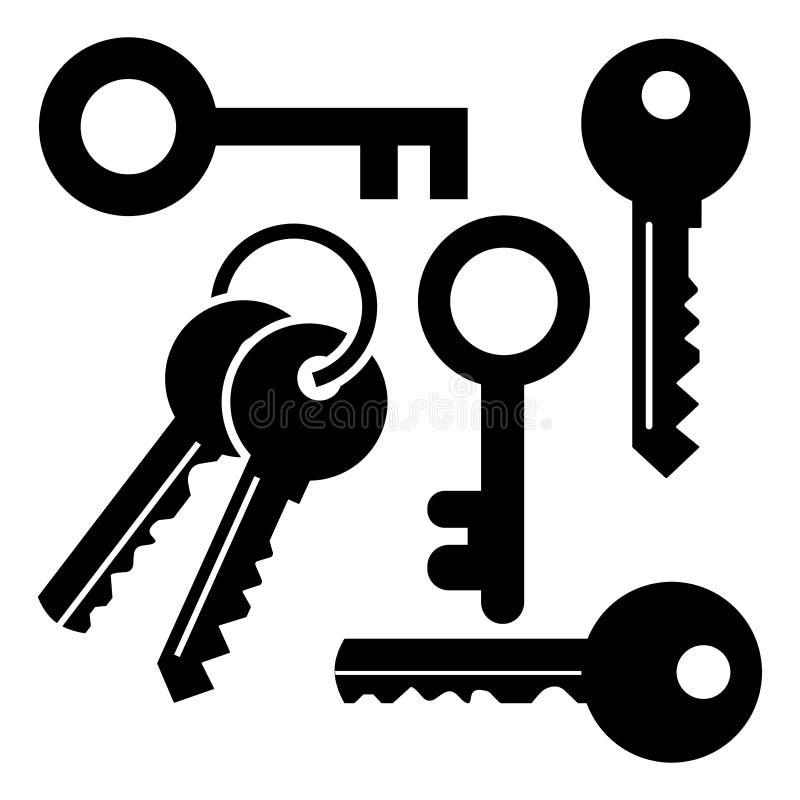 Reeks verschillende sleutels Vector illustratie vector illustratie
