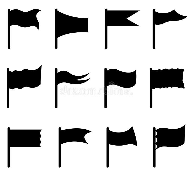 Reeks verschillende vlaggen stock illustratie