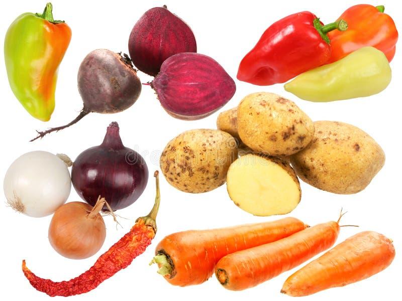 Reeks verse vruchten en groenten royalty-vrije stock foto