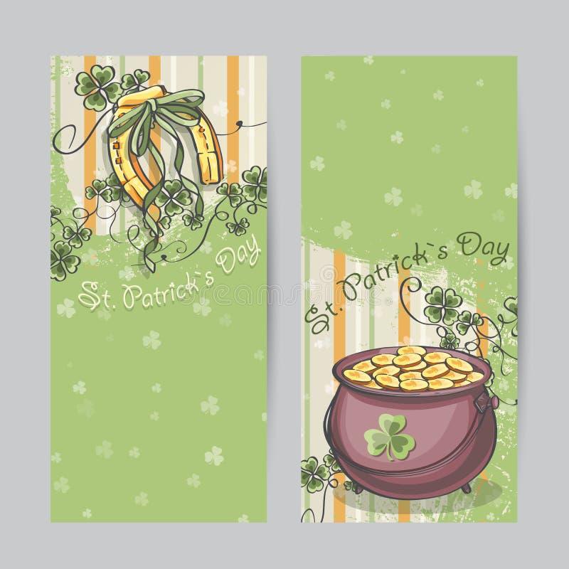 Reeks verticale banners voor St Patrickus Dag vector illustratie