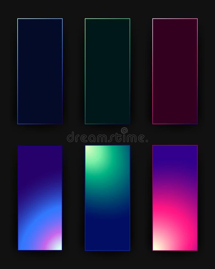 Reeks verticale bannersmalplaatjes vector illustratie