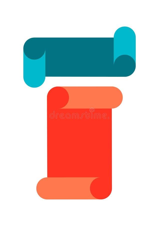 Reeks vlakke de bannerslinten van ontwerpelementen Vector illustratie vector illustratie