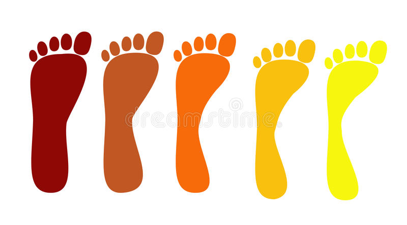 Reeks vlakke voeten vector illustratie